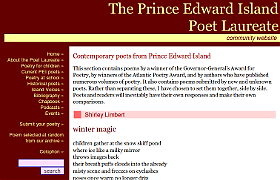 Poetry PEI screencap and hyperlink