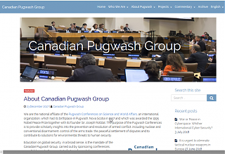 Canadian Pugwash Group screencap and hyperlink